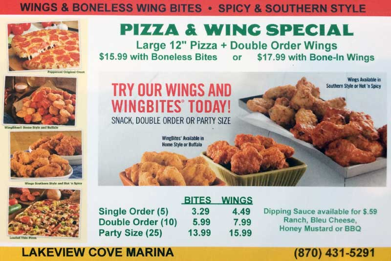 Lakeview Cove Marina Chicken Wings