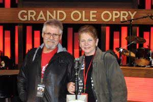 Dianna with her husband, Dennis, at the Grand Ole Opry